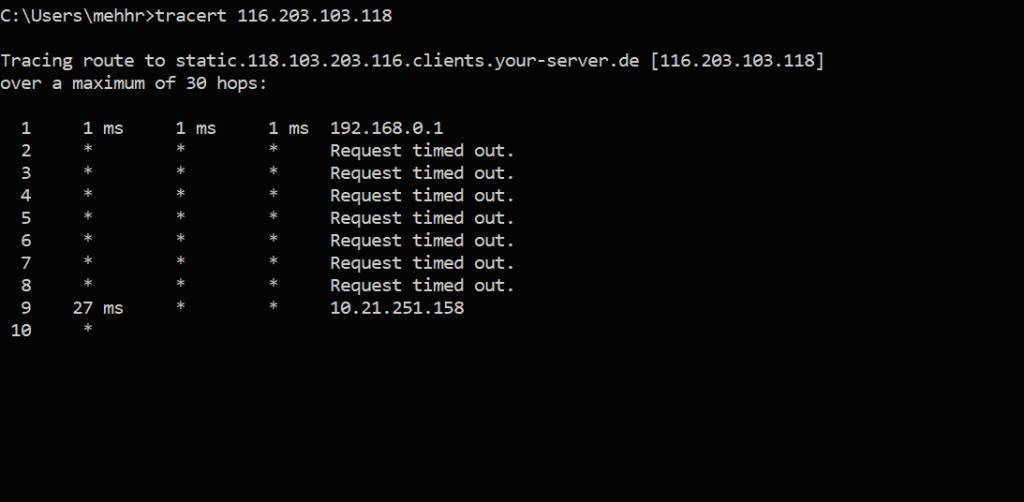 کاربرد traceroute در شبکه